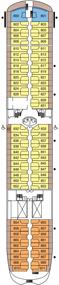 Seven Seas Navigator Deck 8 layout