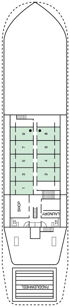 Murray Princess Chaffey Deck layout