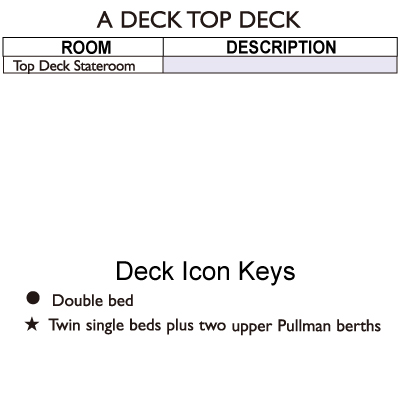 Reef Endeavour A Deck  plan keys