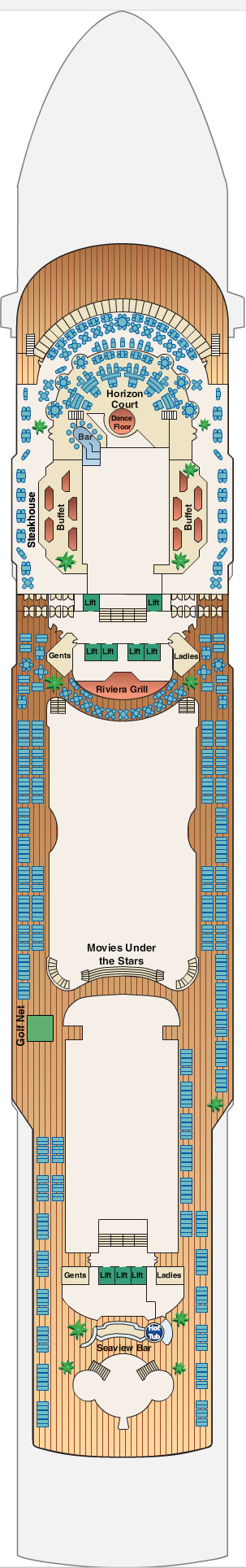 Sun Princess Lido Deck 14 layout