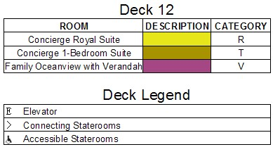 Disney Dream Deck 12 plan keys