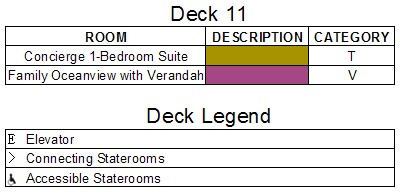 Disney Dream Deck 11 plan keys