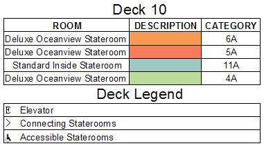 Disney Dream Deck 10 plan keys