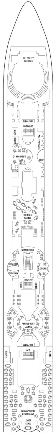 Celebrity Summit Promenade Deck  layout