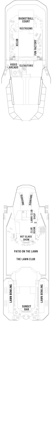 Celebrity Equinox The Lawn Club layout