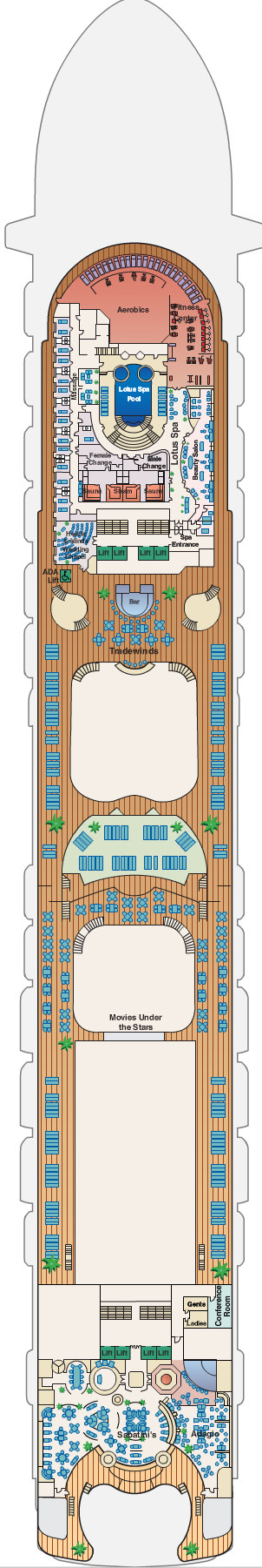 Emerald Princess Sun Deck 16 layout