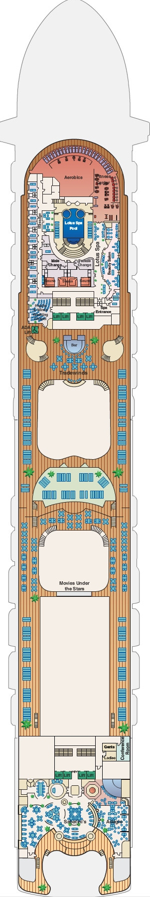 Ruby Princess Sun Deck 16 layout