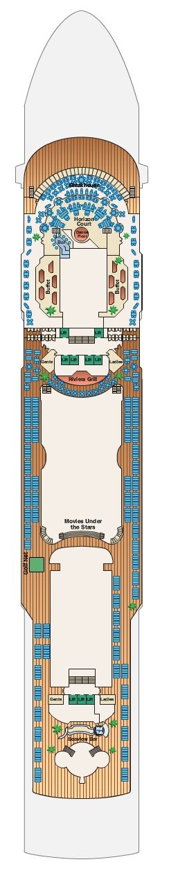 Sea Princess Lido Deck 14 layout