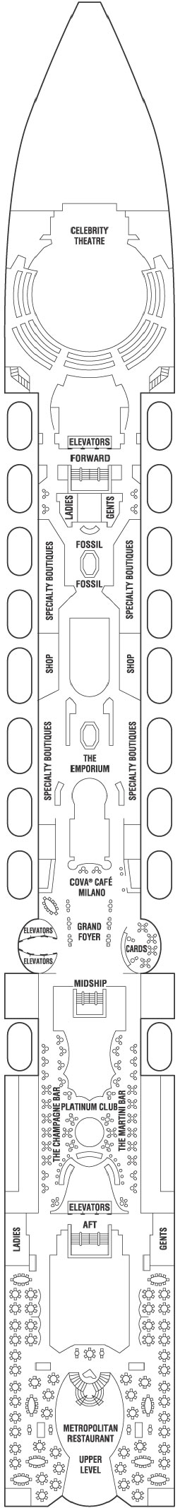 Celebrity Millennium Entertainment Deck layout