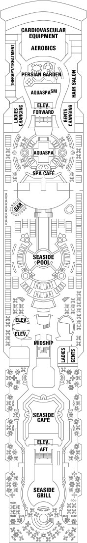 Celebrity Constellation Resort Deck layout