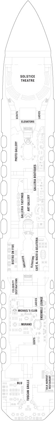 Celebrity Solstice Entertainment Deck layout