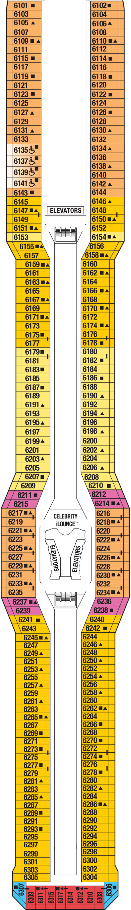 Celebrity Silhouette Continental Deck layout