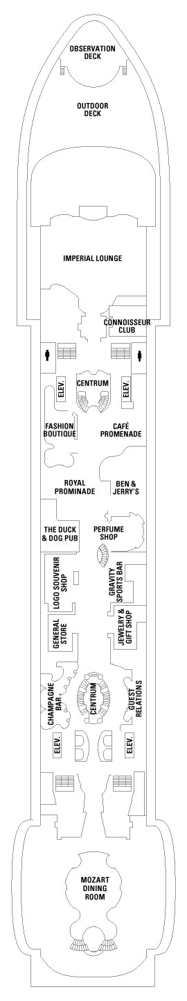 Adventure Of The Seas Deck 5 layout