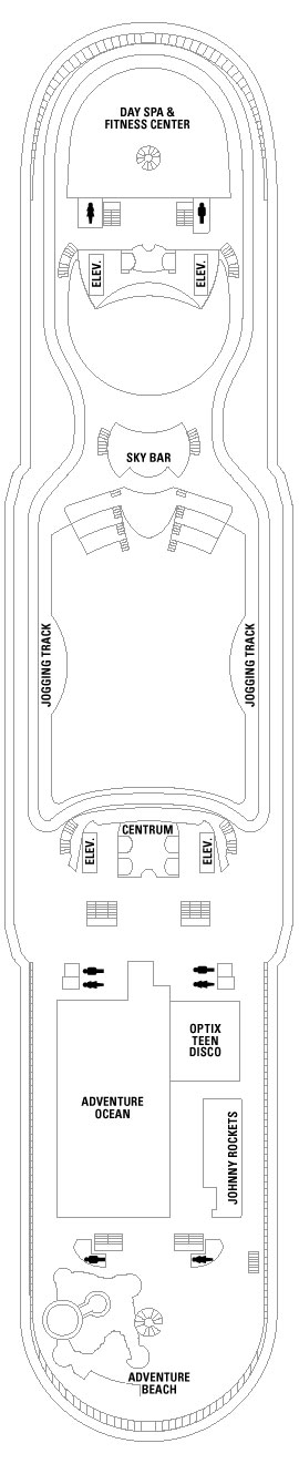 Adventure Of The Seas Deck 12 layout