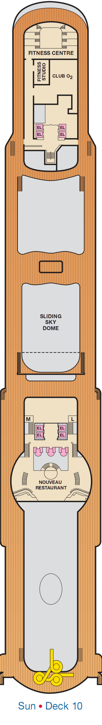 Carnival Legend Sun Deck 10 layout