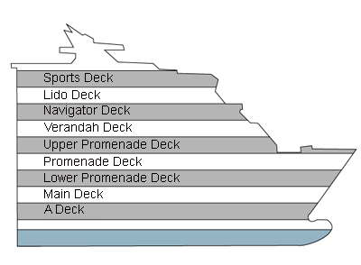 Maasdam Deck 5 - Main Deck   overview