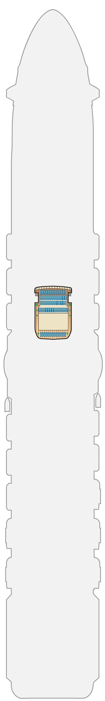 Royal Princess Deck 19 - Sky layout