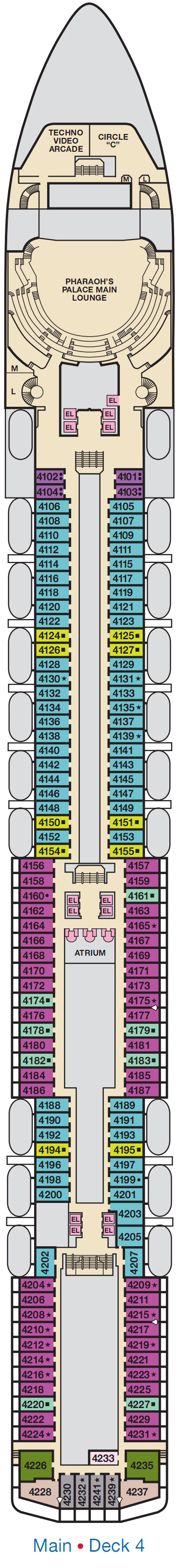 Carnival Spirit Main Deck 4 layout