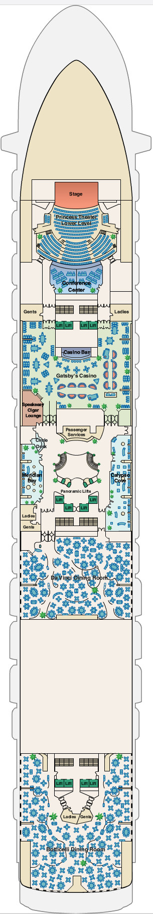 Emerald Princess Fiesta Deck 6 layout