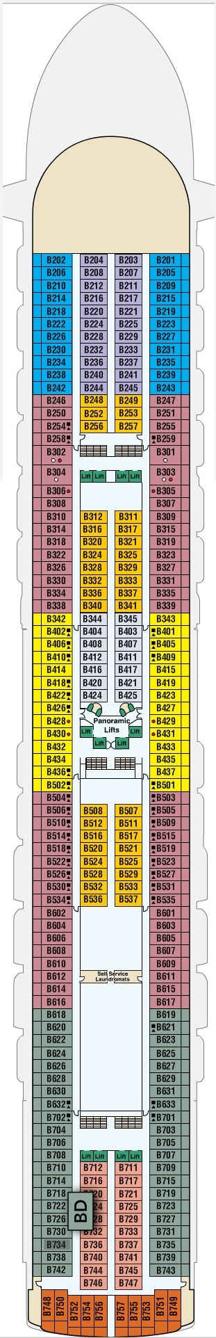 Ruby Princess Baja Deck 11 layout