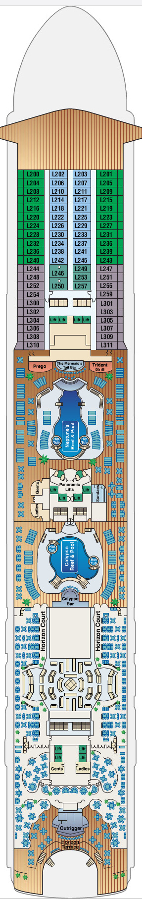 Star Princess Lido Deck 14 layout