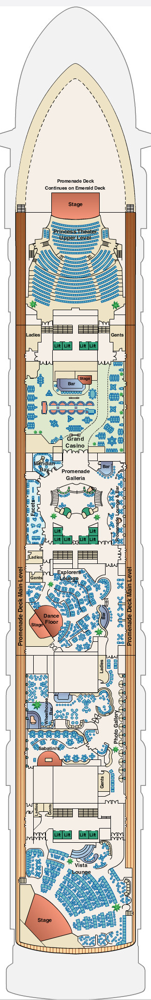 Golden Princess Promenade Deck 7 layout