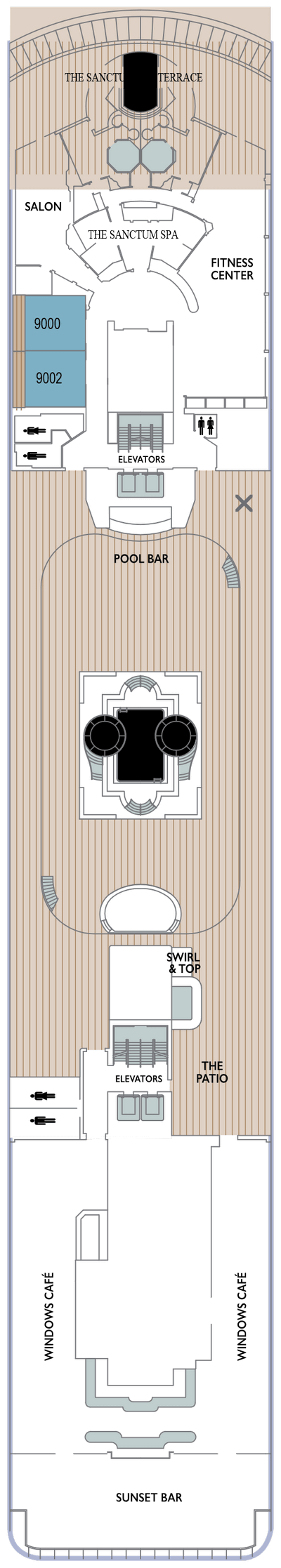 Azamara Journey Deck 9 layout