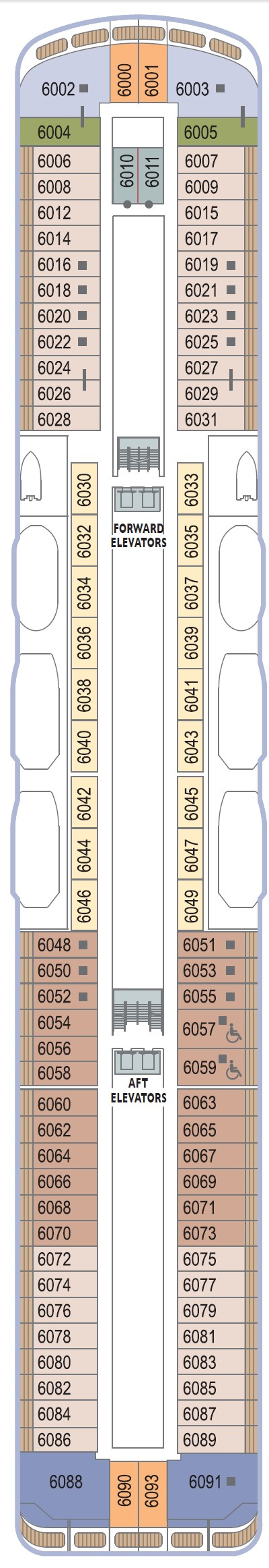 Azamara Journey Deck 6 layout