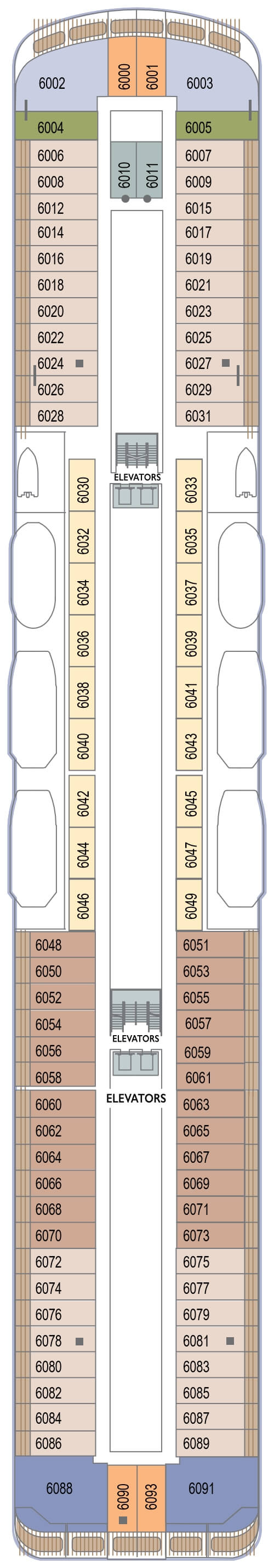 Azamara Pursuit Deck 6 layout