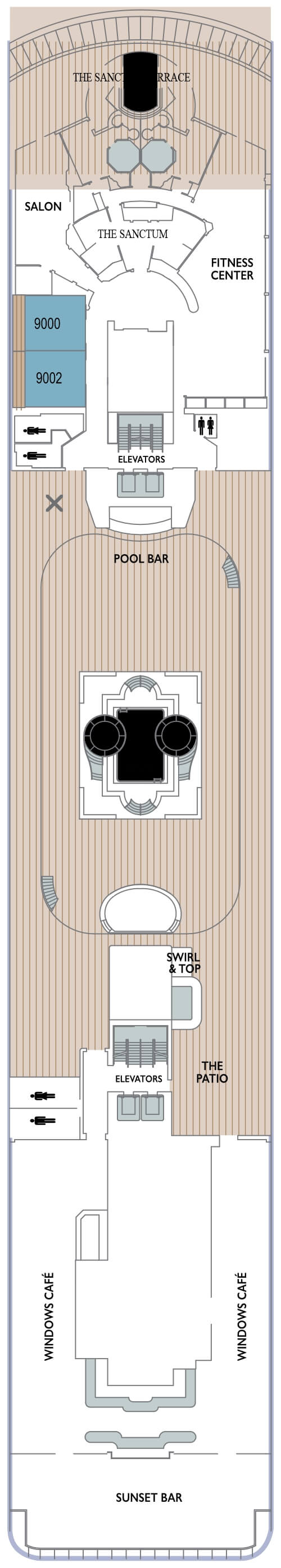 Azamara Pursuit Deck 9 layout