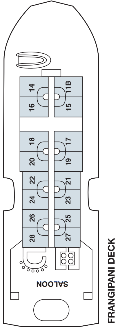 Fiji Princess Middle Orchid Deck layout