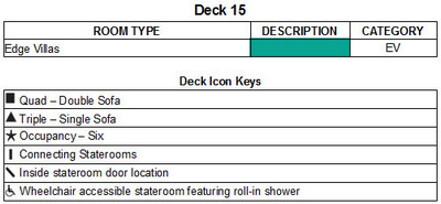 Celebrity Edge Deck 15 plan keys