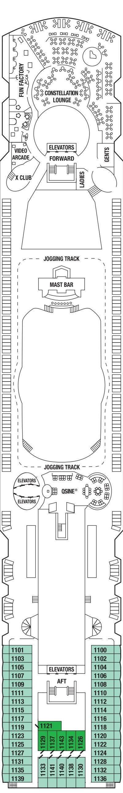 Celebrity Infinity Sunrise Deck layout