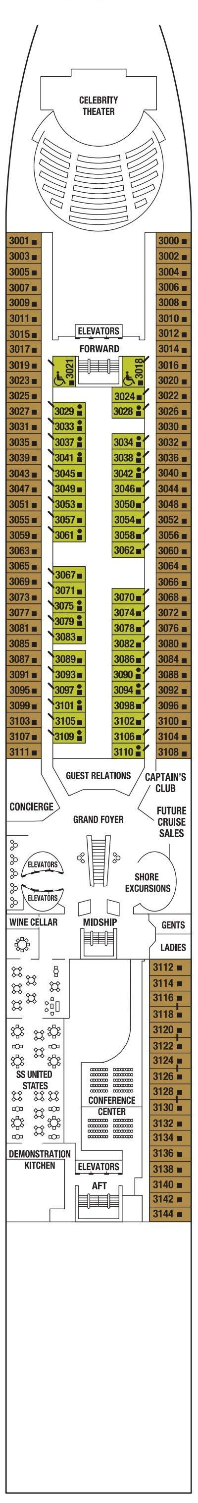 Celebrity Infinity Plaza Deck  layout