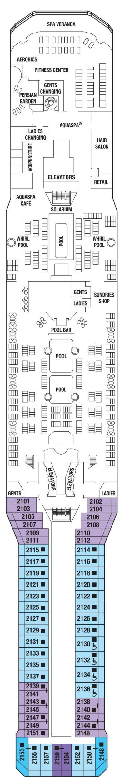 Celebrity Silhouette Sky Deck layout