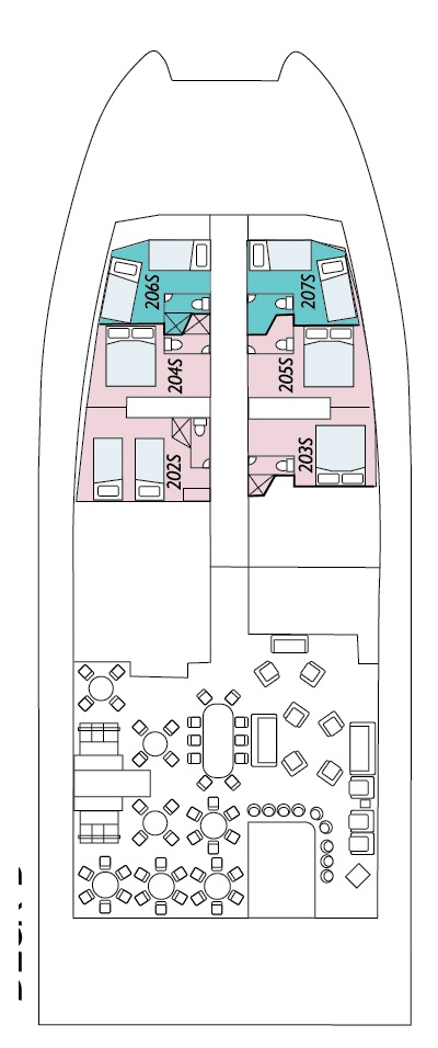 Coral Expeditions I Deck C layout