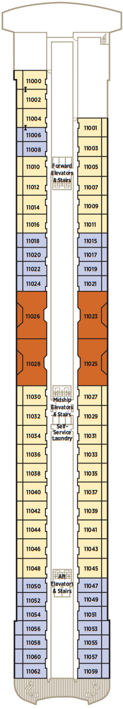 Crystal Serenity Deck 11 Penthouse layout