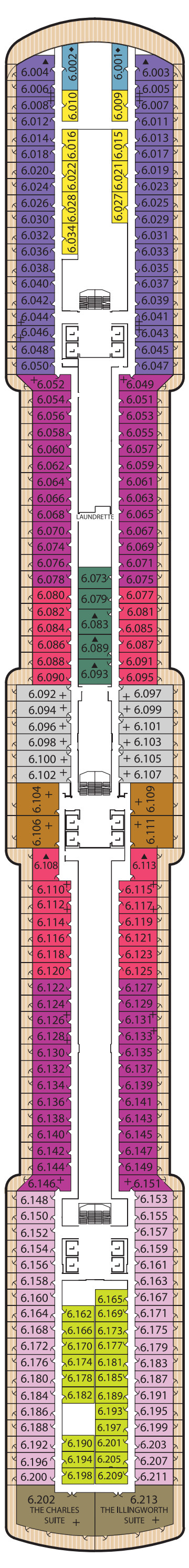 Queen Elizabeth Deck 6 layout