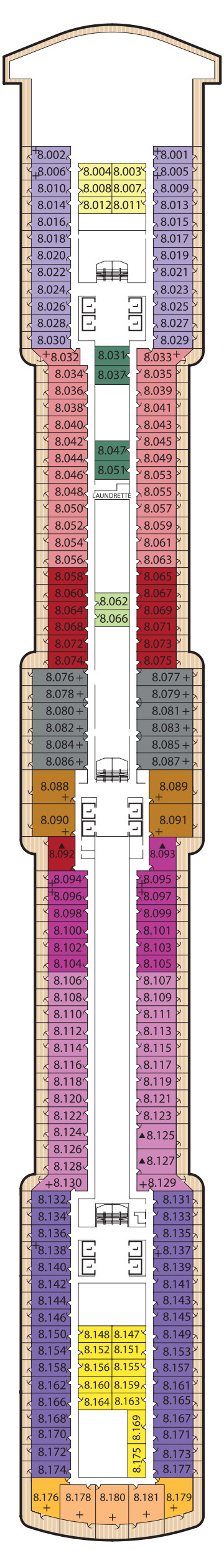 Queen Elizabeth Deck 8 layout