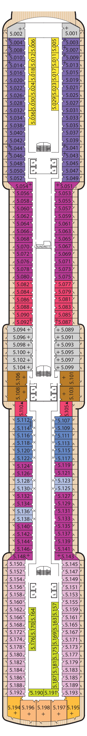 Queen Elizabeth Deck 5 layout