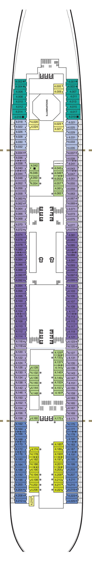 Queen Mary 2 Deck 4  layout