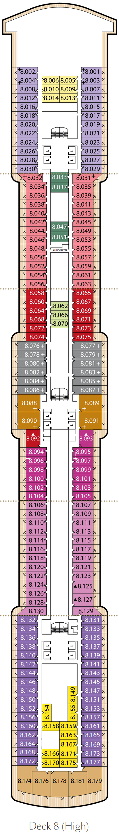 Queen Victoria Deck 8 layout