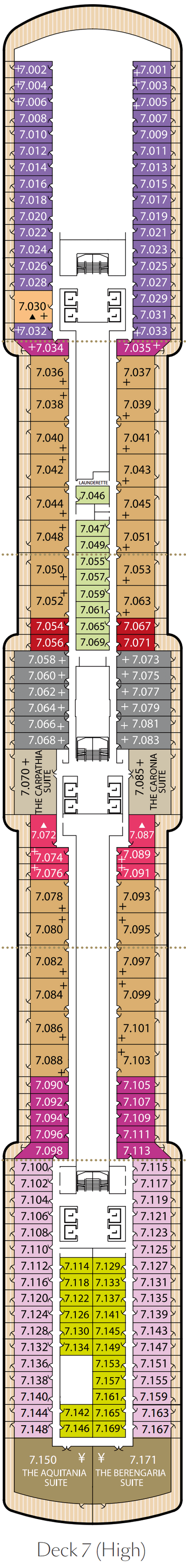 Queen Victoria Deck 7 layout
