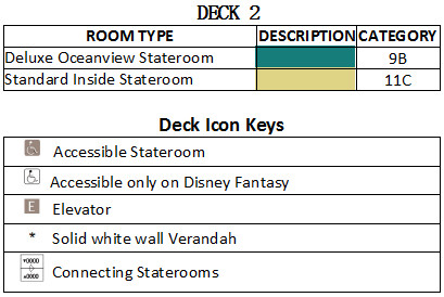 Disney Fantasy Deck 2 plan keys