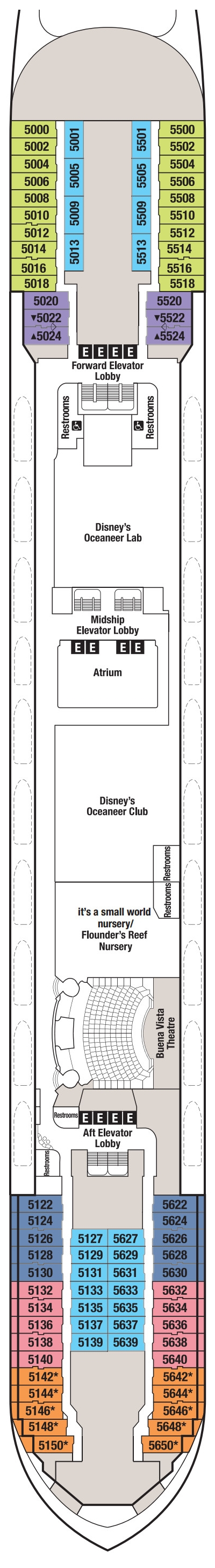 Disney Wonder Deck 5 layout