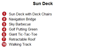 Emerald Liberte Sun Deck plan keys