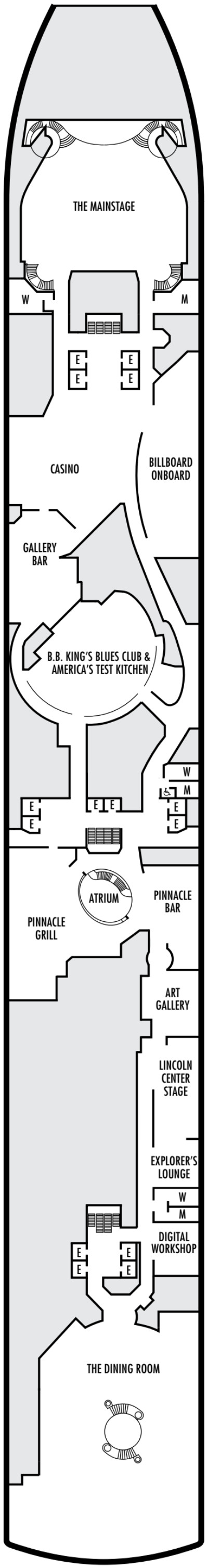 Eurodam Deck 2 - Lower Promenade layout