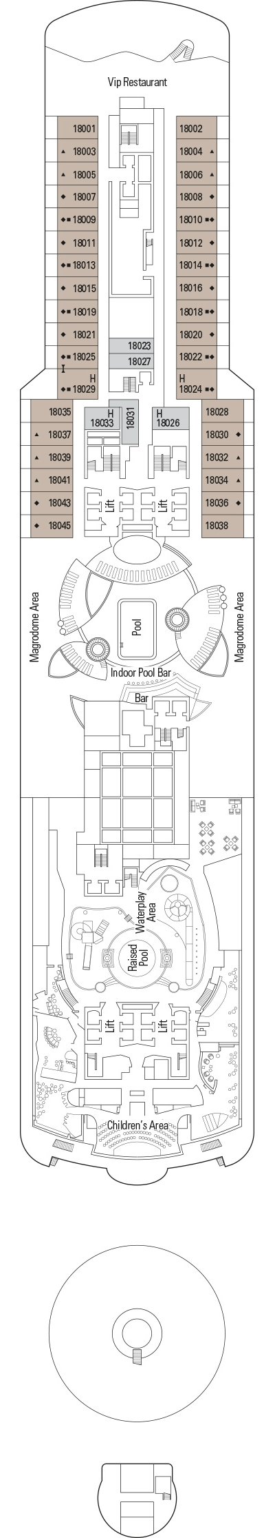 MSC Seaview Deck 18 layout