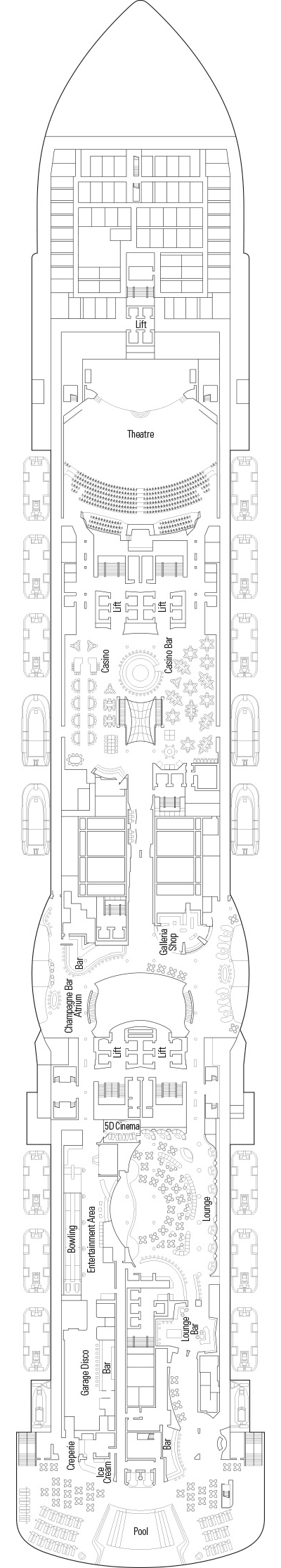 MSC Seaview Deck 7 layout