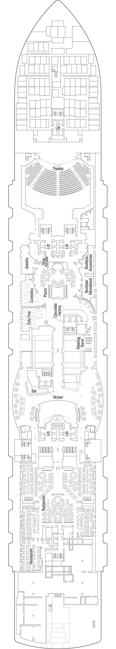 MSC Seaview Deck 6 layout